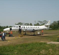 plane I took to Rurrenabaque at the airport on the runway