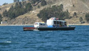 ferry boat to Copacabana in Lake Titicaca