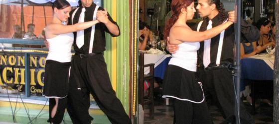 Caminito restaurant staff dance the Tango