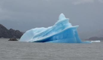An iceberg on Grey Lake, a fallout of Grey Glacier