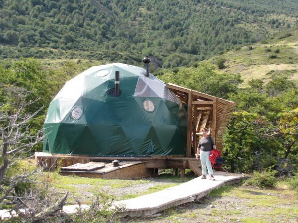 Our dome suite at Eco-Camp