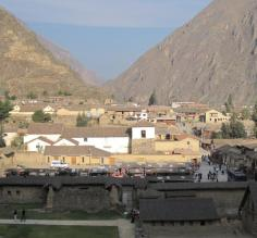 View of Ollantaytambo from the Temple of the Sun