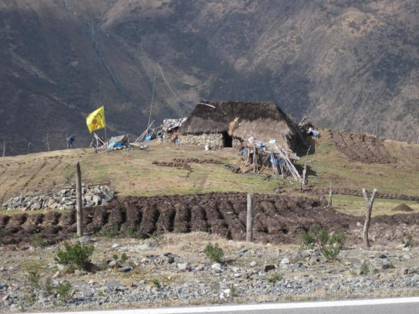 Peruvian home in the mountains - on the bike ride