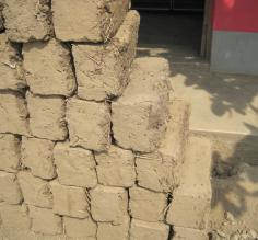 Mud clay bricks for home construction
