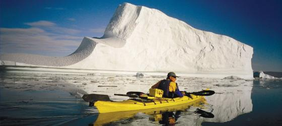 Kayaking by the iceberg