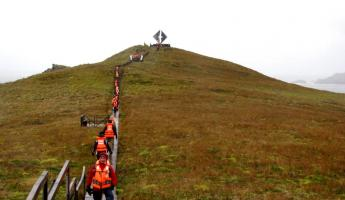 Cape Horn: Walking to the memorial of lost sailors