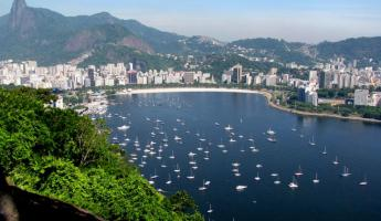 Rio: Bird's view from top of Suger Loaf Mountain