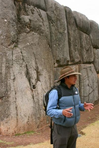 Marco explaining the Sacsayhuaman site.