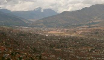 Cusco is both a village and large city in the Andes.