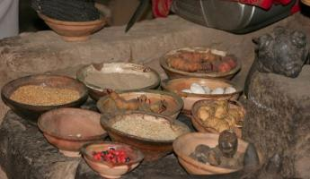 Food preparation using grains and dried vegetables