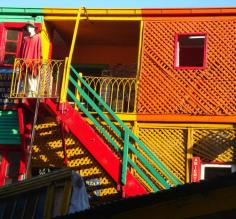 La Boca: Corrugated tin houses