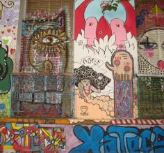 Graffiti laden facades