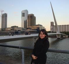 The 'Women's Bridge' at Puerto Madero