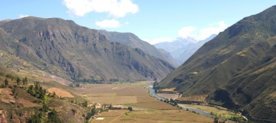View the farmland of the Sacred Valley during your travels to Peru