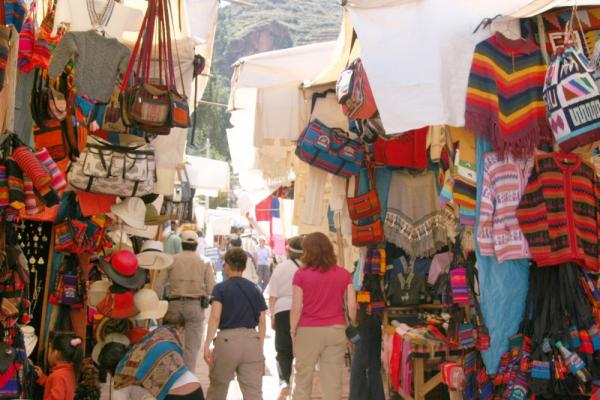 Wander through the colorful markets to bargain for hand-crafted goods on your trip to Peru