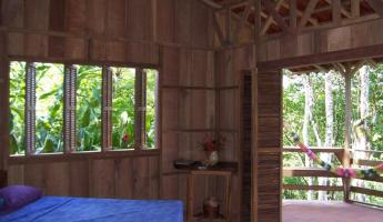 Our cabin at the Selva Bananito Lodge