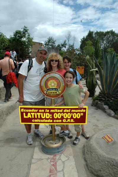 At the equator, Ecuador