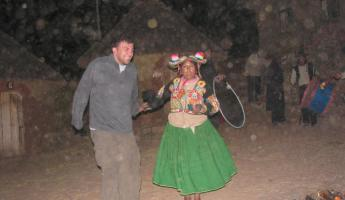 Traditional Dance Around the Fires of Ticonata Island