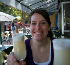 Enjoying our very first pisco sour!