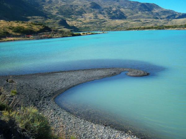 The blue waters of Torres del Paine