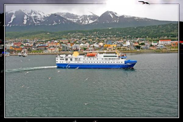 Leaving Ushuaia for the deepfreeze.