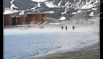 The thermal bay on Deception Island.  Care for a dip anyone?