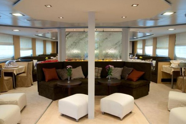 Spacious interior lounge