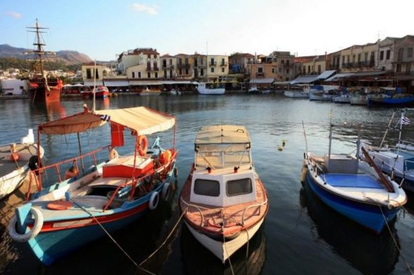 Crete's famous, lively port of Rethymnon