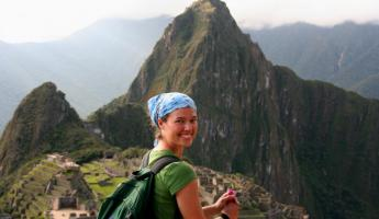 Pose with stunning Machu Picchu as your backdrop during your travels to Peru