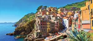 Enjoy colorful views on the coast of Italy