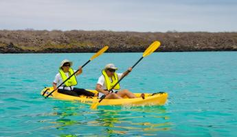 Kayak the beautiful waters of the Galapagos