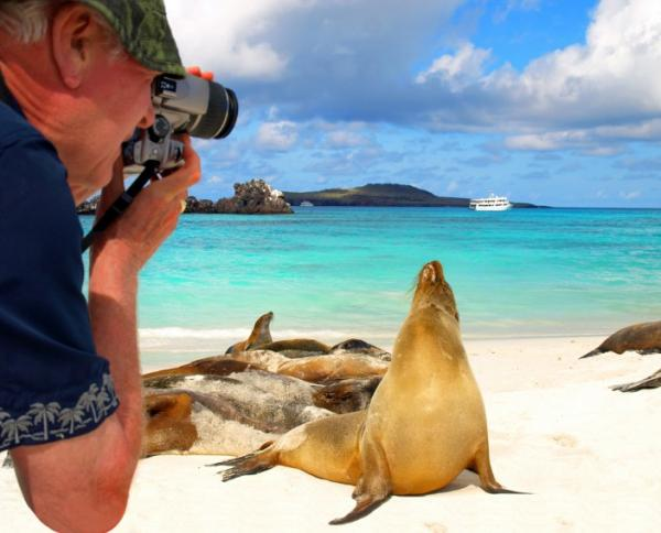 Capture the amazing wildlife and scenery on your Galapagos cruise