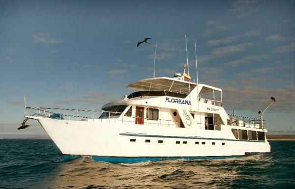 The Floreana cruising the Galapagos Islands