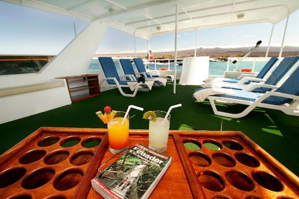 Relax on board the Floreana on your Galapagos cruise