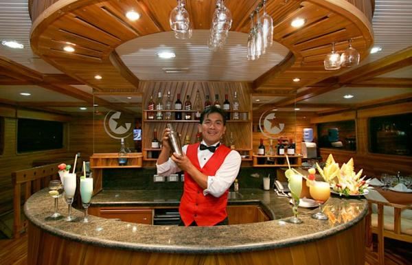 Enjoy the full service bar with soft drinks and alcholic beverage choices