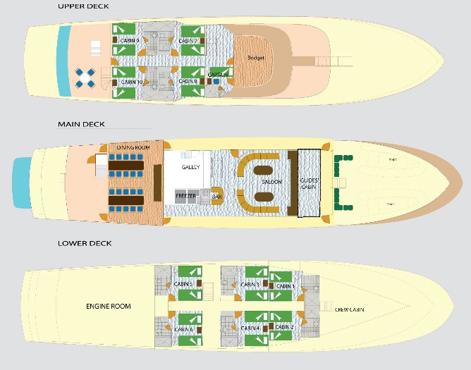 Tip Top IV's deck plan.