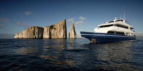 Cruise the Galapagos archipelago aboard the Galapagos Sky