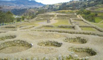Beatiful views at Ingapirca Ruins during Ecuador vacation
