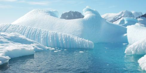 Touring the icy water of Antarctica on an expedition cruise