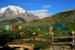 EcoCamp Single Domes and View of Torres del Paine