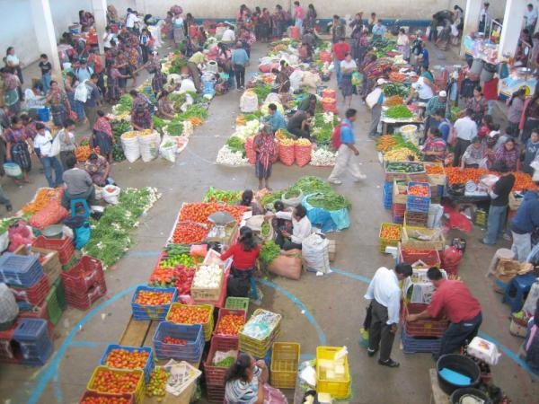 Market day on Chici tour in Guatemala