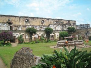 Convent ruins on tour in Antigua Guatemala
