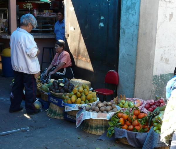 Selling produce on the streets