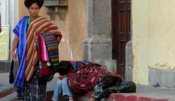 Resting on the streets of Guatemala City