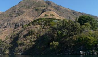 Hotel Lomas de Tzununa is nicely concealed in the vegetation along the lake shore