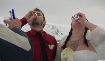 Antarctica. Wedding in ice