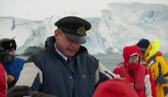 Antarctica. Our captain