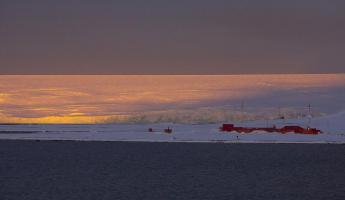 Red evening in Antarctica