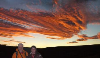 Sunset. Panoramic picture