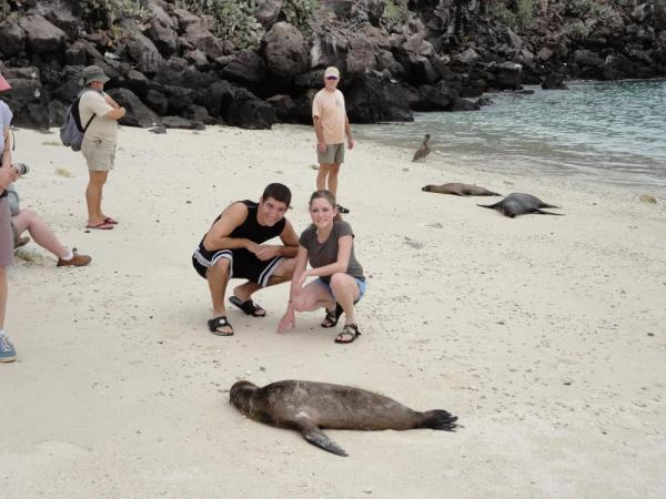 Enjoying our time in the Galapagos